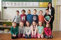 Na fotografii jsou žáci ze ZŠ Želiv, 1. třída paní učitelky Barbory Bártové.