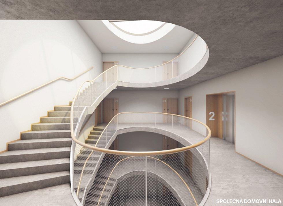 Vítězný návrh budoucího bytového domu.