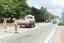 Uzavírka se týká úseku mezi čerpací stanicí EuroOil a odbočkou k  Lidlu.