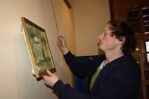 Malíř Marek Fexa ze Zajíčkova nevystavuje v pelhřimovské Galerii M poprvé. Jeho obrazy jsou tam v současné době k vidění už počtvrté