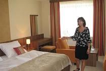 Takhle budou vypadat pokoje čtyřhvězdičkového hotelu Artaban. Hostům se dostane veškerého myslitelného pohodlí, jakého se mnohdy nedopátrají ani v řadě větších měst.