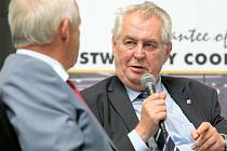 Prezident Miloš Zeman na návštěvě Agrostroje