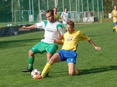 Dvěma slepenými góly v prvním poločase rozhodli fotbalisté Kamenice nad Lipou zápas proti Telči. Soupeře z Jihlavska porazili 2:1.