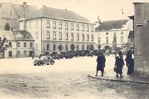 Německé vojsko s vozy přijelo do Humpolce po 15. březnu roku 1939.