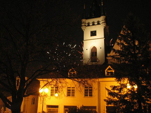 Silvestrovská oslava v Humpolci.