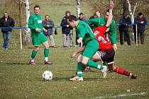 Budíkov začal jaro skvěle, doma porazil Věžnici 2:0. Podíl měl na tom i Miroslav Vodrážka.