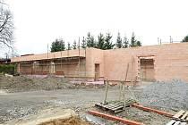 Stavba nové kuželny v Kamenici nad Lipou.