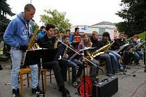 Jazz Band pelhřimovské ZUŠ při akci