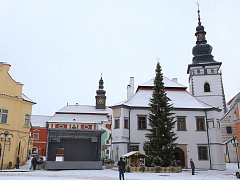 Vánoční strom v Pelhřimově.