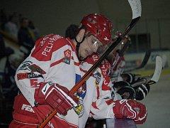 Obránce Adam Rašner a autor prvního gólu Spartaku už ve třetí třetině utkání s Kolínem nehrál. Na vině bylo obnovené zranění kolene.