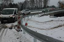 Most u Jiřic, sobota 1. prosince odpoledne.