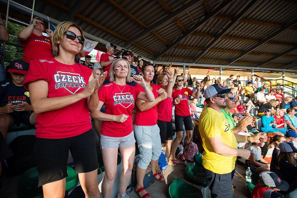 Finálový zápas softbalového mistrovství Evropy do 18 let mezi Českou republikou a Dánskem.