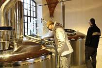 Slavnostní otevření pivovaru v Kamenici nad Lipou.