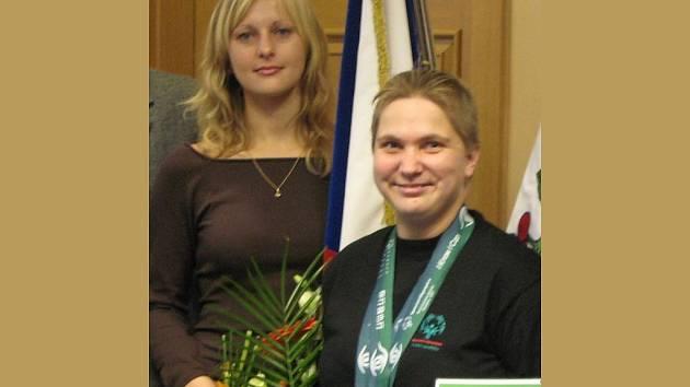 Eva Klinková s trenérkou