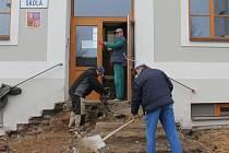 Modernizace školy na náměstí Svobody v Pacově je v plném proudu.