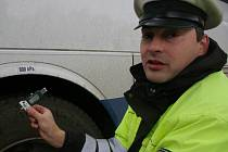 Policista Pavel byl také členem policejního týmu Kamion, který kontroluje nákladní vozy a autobusy.