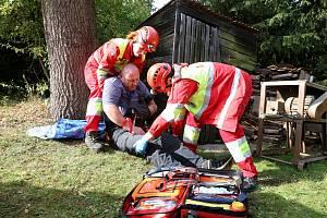 V rekreačním středisku Kletečná se uskutečnilo metodické cvičení Zdravotnické záchranné služby.
