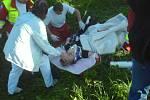 Zdravotnický zásah u nehody Lukáše Žáčka, která se stala 7. května 2008.