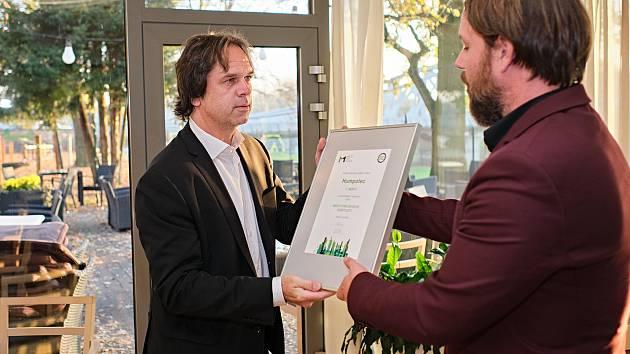 Ocenění přebíral starosta Humpolce Karel Kratochvíl.