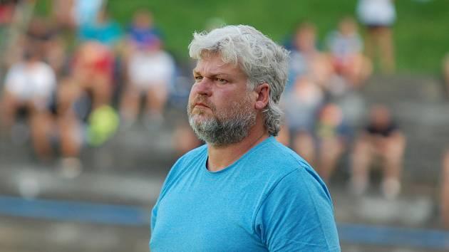 Trenér fotbalistů Humolce Lukáš Staněk.