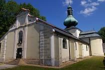 Kostel Nejsvětější Trojice na Křemešníku.