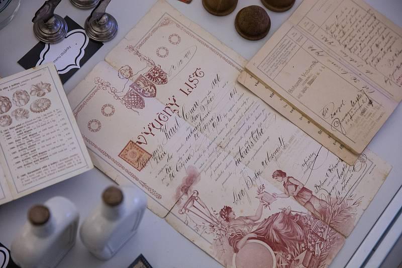 Výstava Historické cukrárny v Muzeu Velké Meziříčí.