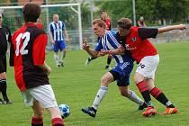 Okresní derby ovládli zásluhou tref Filipa Kubíčka fotbalisté juniorky Humpolce.