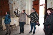 První návštěva synagogy v Pacově po jejím převzetí spolkem Tikkun se uskutečnila 23. ledna. Na půdu zavítali všichni účastníci úplně poprvé.