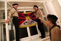 Vlajka pro Tibet v Kamenici.