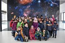 Škola z Vyskytné v brněnském planetáriu.