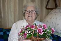 Podle Františky Vovsové je nejlepším receptem na dlouhověkost práce.