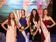 Zleva: 1. místo Marie Benešová, 2. místo  Klára Říšská, 3. místo Adriana Svobodová a 4. místo Veronika Lhotková