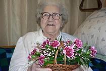 Františka Vovsová (na snímku) letos oslavila krásné 101. narozeniny.