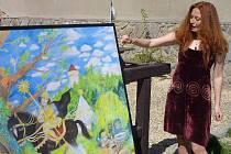 Marie Brožová v průběhu dvanácti dnů nakreslila pastelkami obraz s názvem Svatý Jiří zabíjí draka zimy o rozměrech 1686 krát 1198 mm.