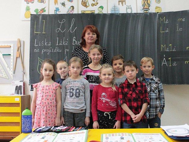 Na fotografii jsou žáci ze ZŠ a MŠ Vyskytná, 1.třída paní učitelky Lenky Linhartové.