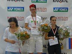 Zuzana Kubáňová (na snímku uprostřed) potvrdila i v Zurichu, že patří ke světové racketlonové špičce.