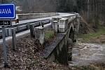 Na řece Trnavě u červenořečických papíren, byl ve čtvrtek ráno vyhlášen první povodňový stupeň