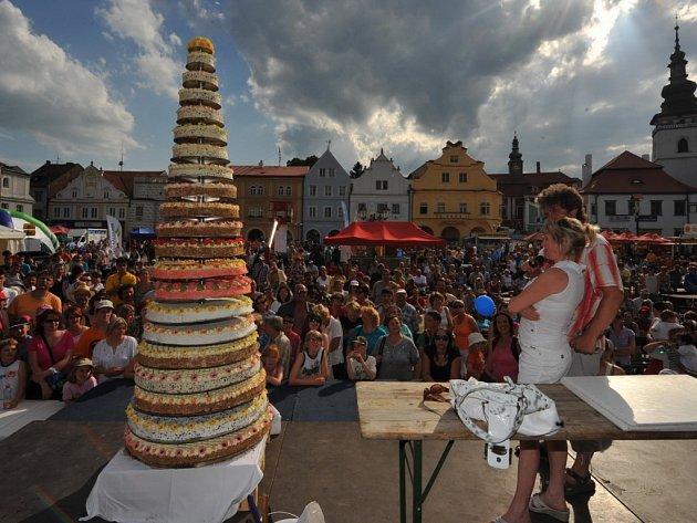 Obří cukrářské výrobky patří k Pelhřimovu. Před pěti lety se 20. výročí rekordů slavilo dortem s největ-ším počtem pater.