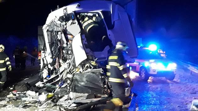 Nehoda na D1 u Humpolce