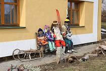 Slaměná rodinka Blažkovi: Alois, Anežka a děti