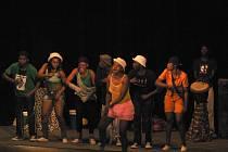 Vystoupení devítičlenné africké skupiny studentů umělecké školy v Bulawayo v Zimbabwe.