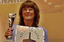 Ocenění pro Rodinný pivovar Bernard přebírala výrobní ředitelka Jana Hajníková.