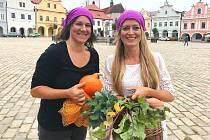 Organizátorky Pelhřimovského jarmarku Zuzana Havlová (vlevo) a Markéta Petrů.
