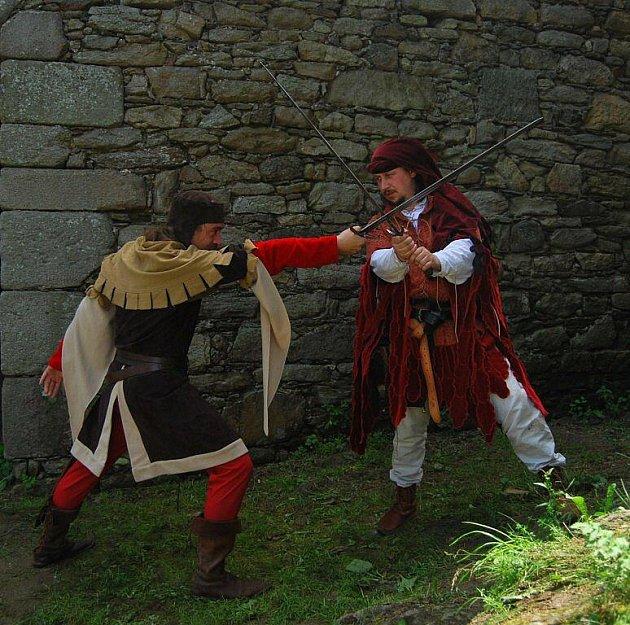 Historické slavnosti na zřícenině hradu Orlík