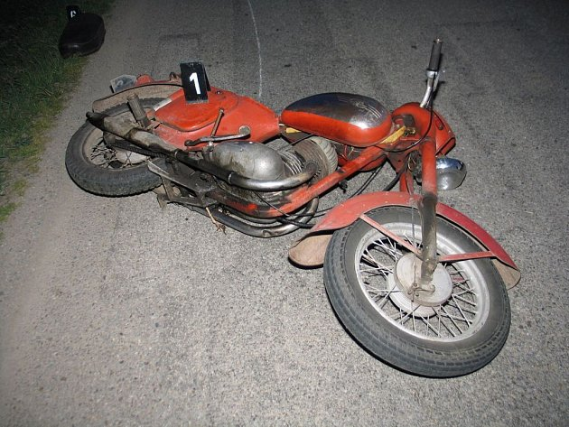 Nehoda motorky u Horní Cerekve