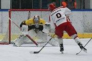 Zápas 27. kola hokejové 2. ligy skupiny Střed mezi HC Lední Medvědi Pelhřimov a HC Moravské Budějovice 2005.