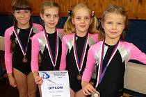 Vrcholný závod podzimu absolvovala také děvčata z oddílu SG Pelhřimov.