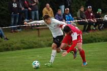 Tomáš Mazáč (vlevo) má na góly obdivuhodný čich.