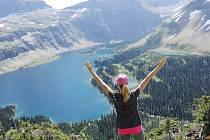 Tereza Vaňková odcestovala do Montany. Na snímku je v Národním parku Glacier.