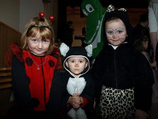 Kulturní dům v Těmicích v sobotu patřil karnevalu. Sál zaplnila spousta nápaditých masek.